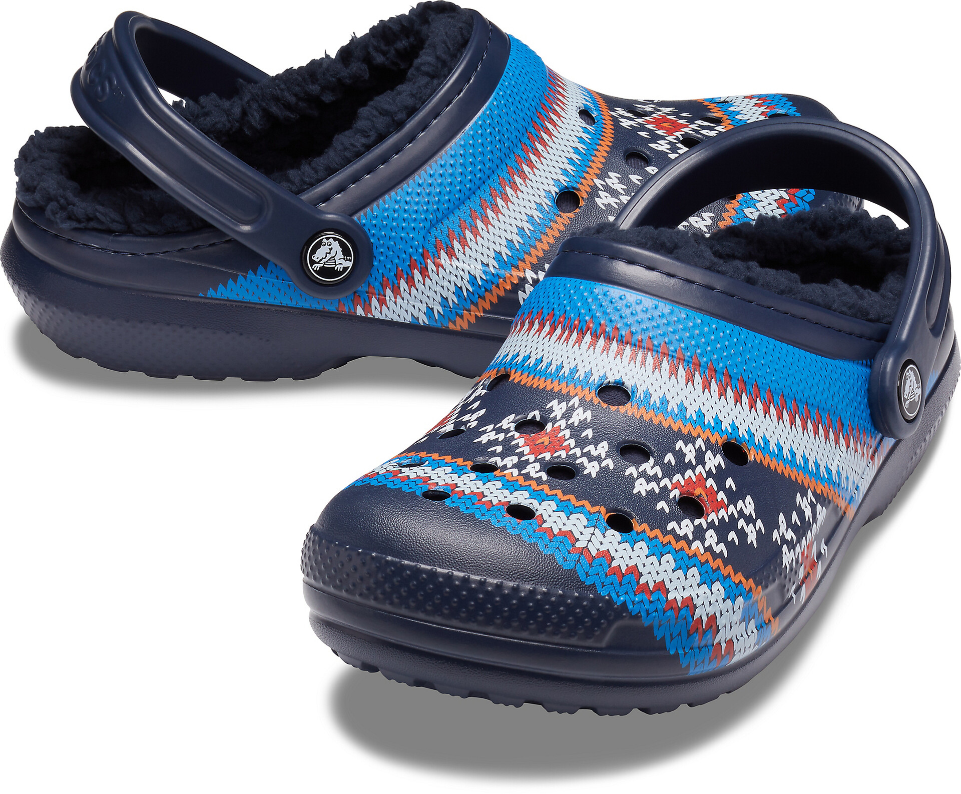 Crocs Classic Printed Lined Clogs zoccoli, navy su Addnature IaKuc